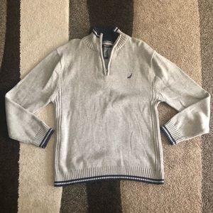 Boys NAUTICA Gray knit sweater